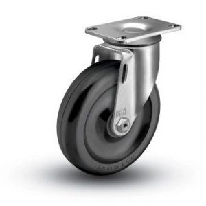 4″ x 1-1/4″ BLACK HARD PLASTIC SWIVEL CASTER