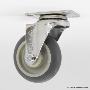 4″ x 1-1/4″ THERMOPLASTIC RUBBER SWIVEL CASTER