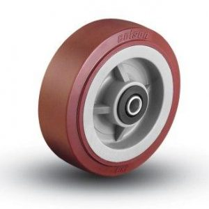 10″X2.5″ POLY ON POLY WHEEL WITH ROLLER BEARINGS