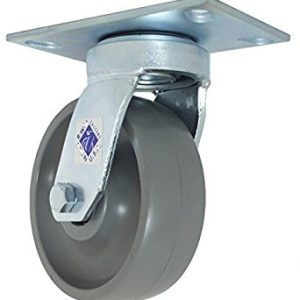 10″X3″ SOLID ELASTOMER SWIVEL CASTER