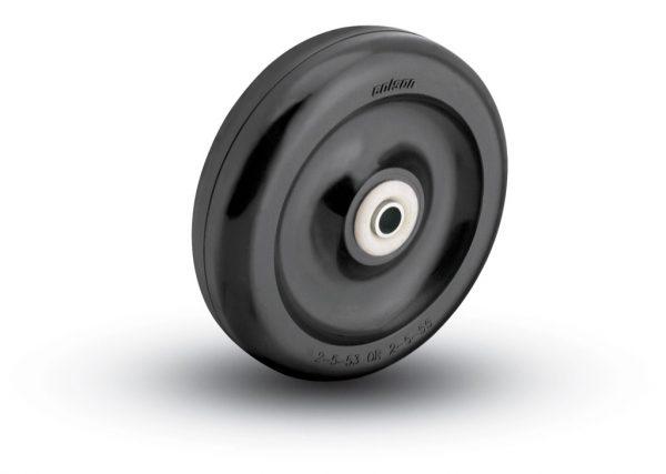 2-1/2″ HARD BLACK PLASTIC WHEEL WITH BALL BEARING