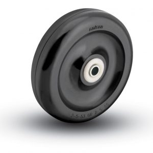 3-1/2″ HARD BLACK PLASTIC WHEEL WITH BALL BEARINGS