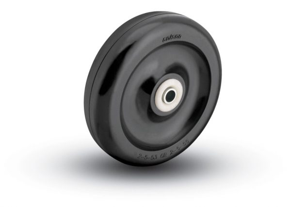 4″ HARD BLACK PLASTIC WHEEL WITH BALL BEARINGS