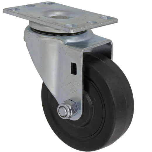 4″X1-1/4″ HARD RUBBER SWIVEL CASTER