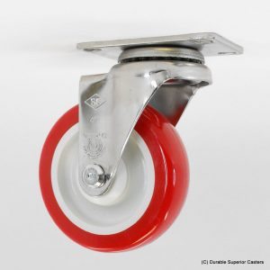 4″ x 1-1/4″ Stainless Steel Poly/Poly Swivel Caster