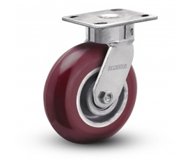 4″ x 2″ HIGH GRADE POLY ON ALUMINUM SWIVEL CASTER