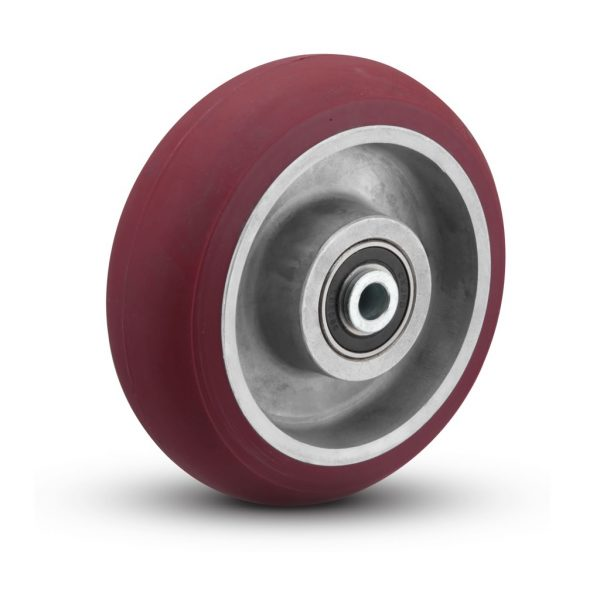 4″x2″ HIGH GRADE POLYURETHANE ON ALUMINUM WHEEL WITH SEALED BALL BEARINGS