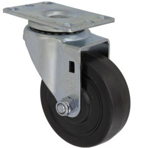 5″X1-1/4″ HARD RUBBER SWIVEL CASTER