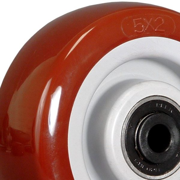 5″ POLY ON POLY WHEEL WITH BALL BEARINGS