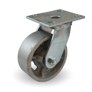 5″ x 2″ CAST IRON SWIVEL CASTER