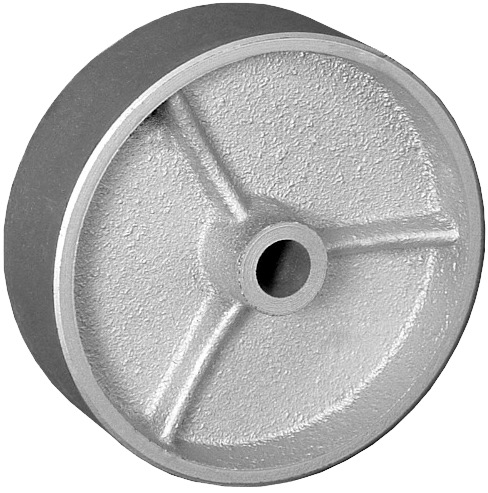 6″X2″ CAST IRON WHEEL WITH ROLLER BEARING
