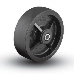 6″X2″ HARD BLACK PLASTIC WHEEL WITH BALL BEARINGS