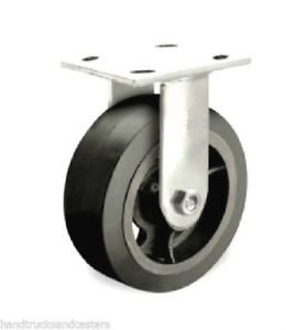 6″ x 2″ RUBBER ON IRON RIGID CASTER