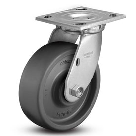 6″ x 2″ SOLID ELASTOMER SWIVEL CASTER