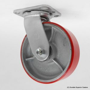 6″X2″ POLY ON IRON STAINLESS STEEL SWIVEL CASTER