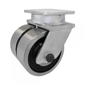MAX DUTY 6X3 FORGED STEEL DUAL WHEEL SWIVEL CASTER