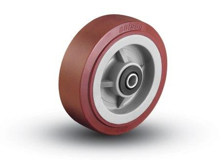 8″X2″ POLY ON POLY WHEEL WITH ROLLER BEARING