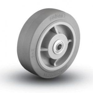 8″X2″ THERMOPLASTIC RUBBER WHEEL WITH BALL BEARINGS
