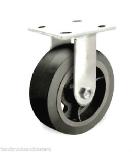 8″ x 2″ RUBBER ON IRON RIGID CASTER