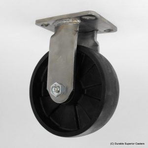 8″X2″ GLASS FILLED NYLON STAINLESS STEEL RIGID CASTER
