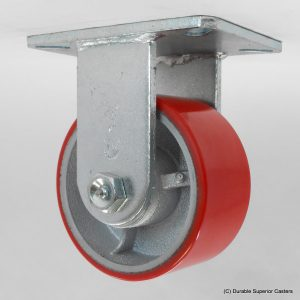 8″X3″ POLY ON IRON RIGID CASTER
