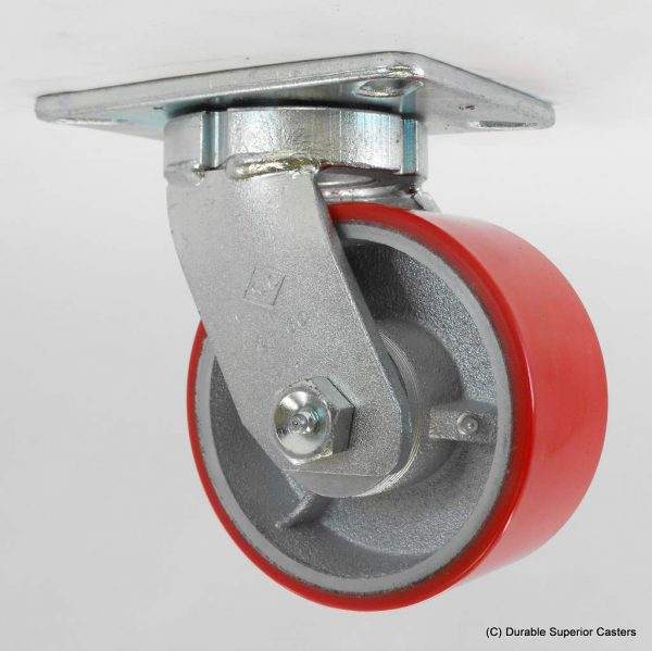 8″X3″ POLY ON IRON SWIVEL CASTER