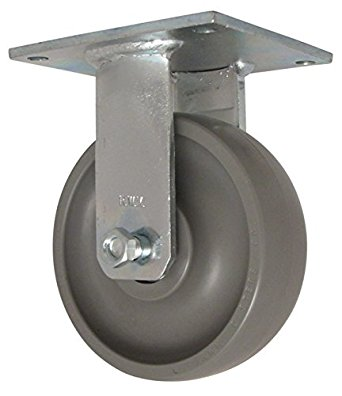 8″X3″ SOLID ELASTOMER RIGID CASTER