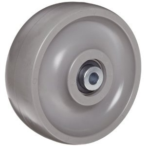 8″X3″ SOLID ELASTOMER WHEEL WITH BALL BEARING