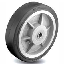 10″X2.5″ THERMOPLASTIC RUBBER WHEEL WITH ROLLER BEARING