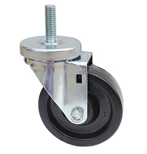5″X1-1/4″ BLACK PHENOLIC THREADED STEM SWIVEL CASTER