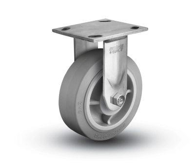 6″X2″ THERMOPLASTIC RUBBER STAINLESS STEEL RIGID CASTER